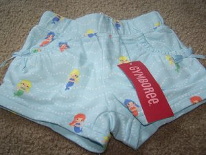 Gymboree New With Tags Girls Mermaid Shorts Sizes 3-24M