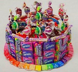 Single Tier Candy Bar Cake