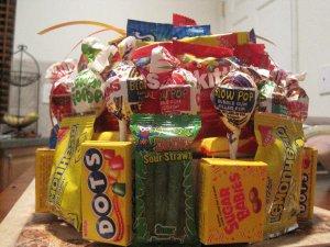 Candy Cake for Kids/Birthdays Candy Bar Cake