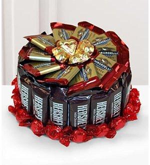 1 Tier Hershey's Candy Bar Cake