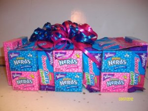 1 Tier Nerds/Sweettarts Candy Bar Cake