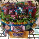 Easter Oval Pail Decorated with Candy