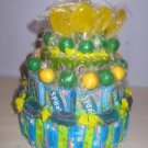 Green & Yellow Mixed Candy Bar Cake