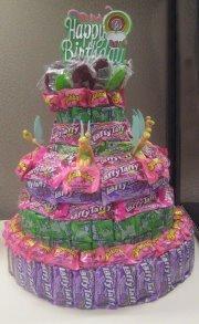 Tinker Bell Mixed Candy Bar Cake