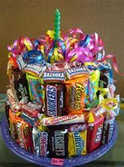 Bell Mixed Candy Bar Cake