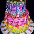 Sweet Tarts Mixed Candy Bar Cake