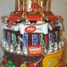 Mixed 3 Tier Candy Bar Cake