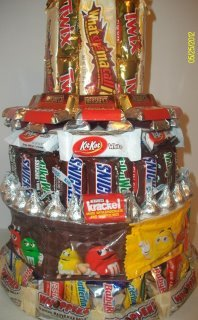 Mixed 3 Tier Candy Bar Cake