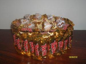 2 Tier Twix Candy Bar Cake