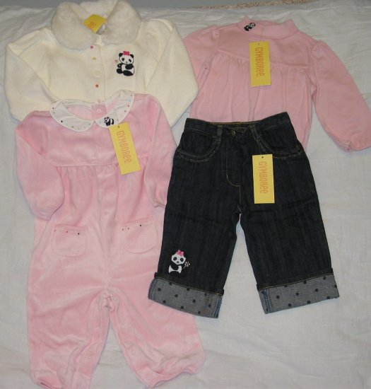GYMBOREE 6-12m LITTLE PANDA girls lot NWT