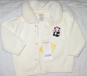 3-6m GYMBOREE Little Panda sweater NWT