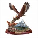 Eagle Feeding Time Figurine