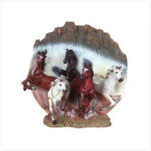 Wild Horses Figural Plate