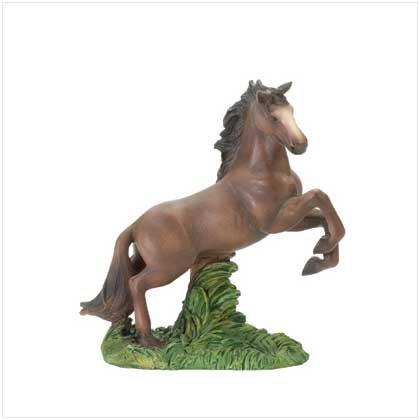 Horse on Hind Legs Figurine