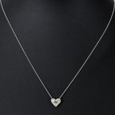 Tiffany co platinum 3 diamond etoile heart pendant necklace aloadofball Choice Image