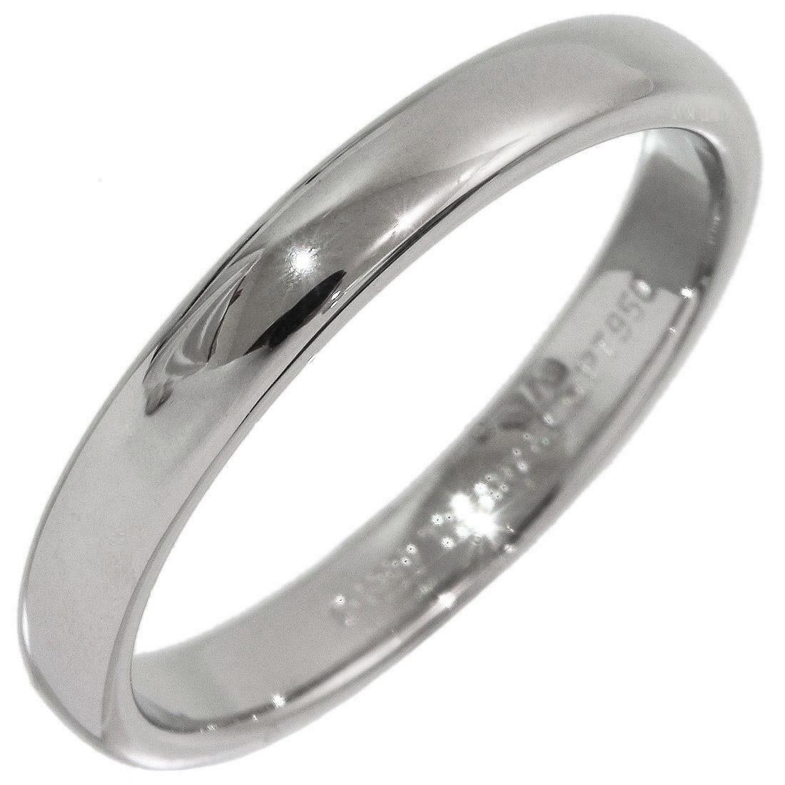 TIFFANY & Co. Classic Platinum 3mm Lucida Wedding Band Ring 7
