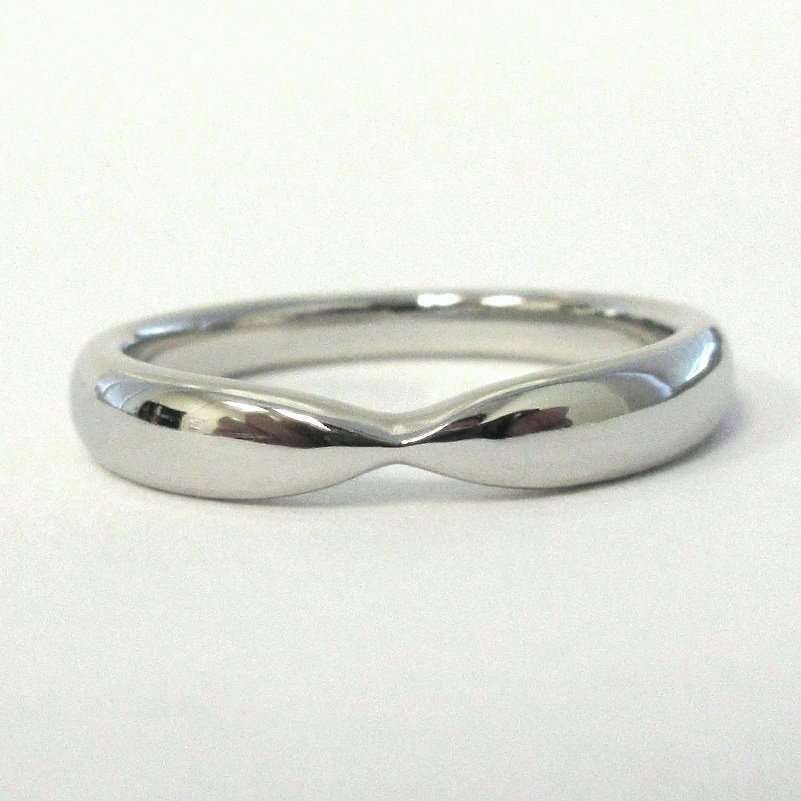 TIFFANY & Co. Harmony Platinum 3mm Tapered Wedding Band Ring 4.5 --- SOLD