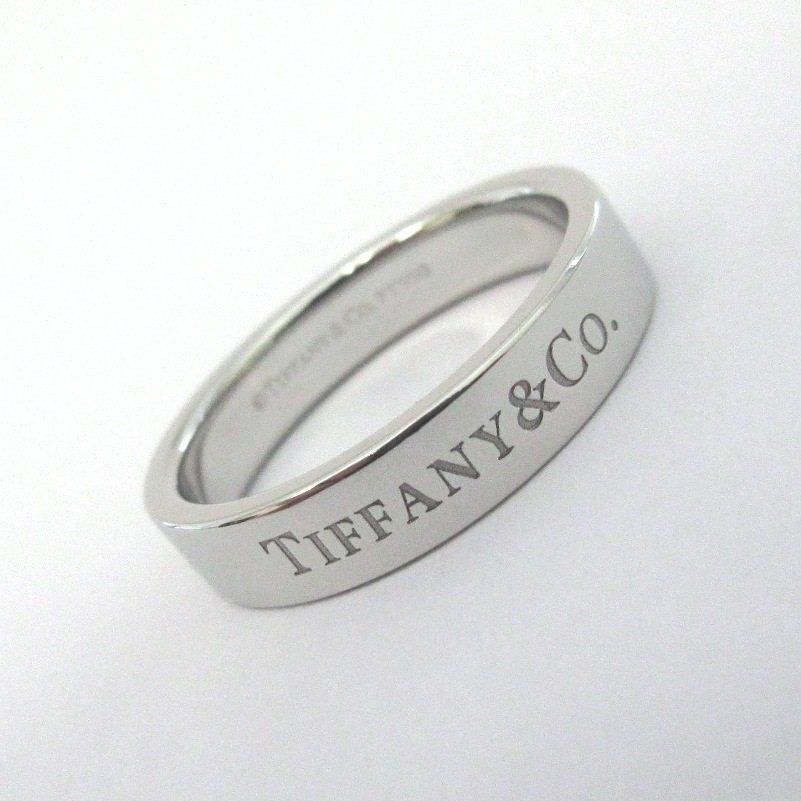 TIFFANY & Co. Platinum 4mm Wedding Band Ring 7