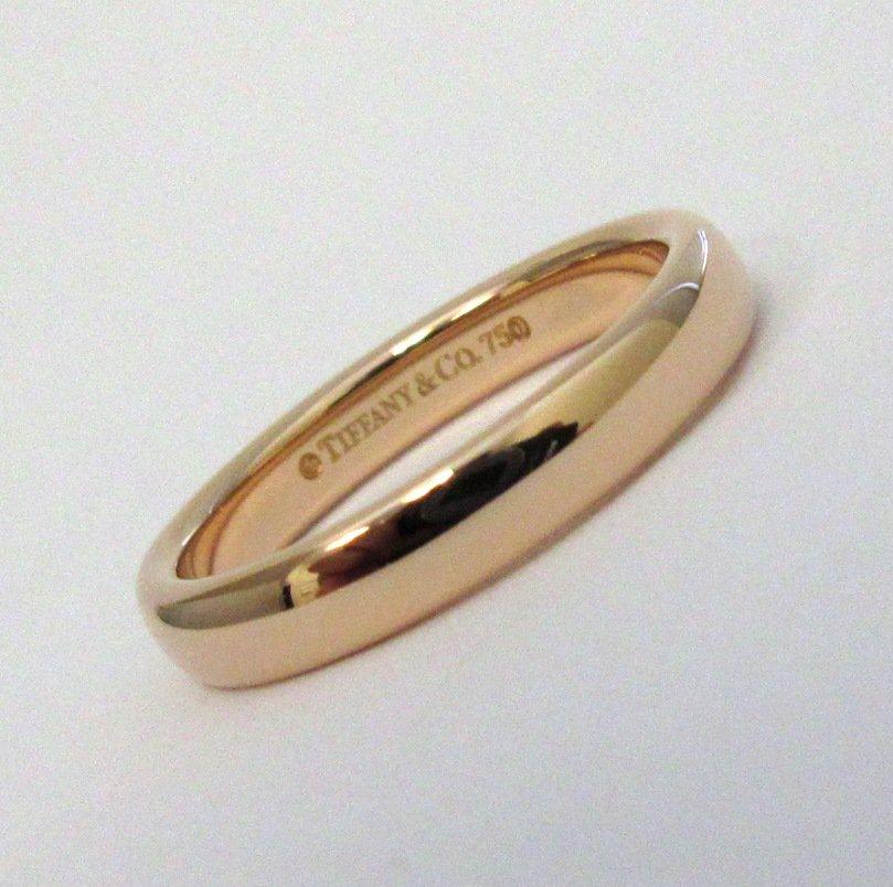 TIFFANY & Co. Classic 18K Rose Gold 3mm Lucida Wedding Band Ring 4