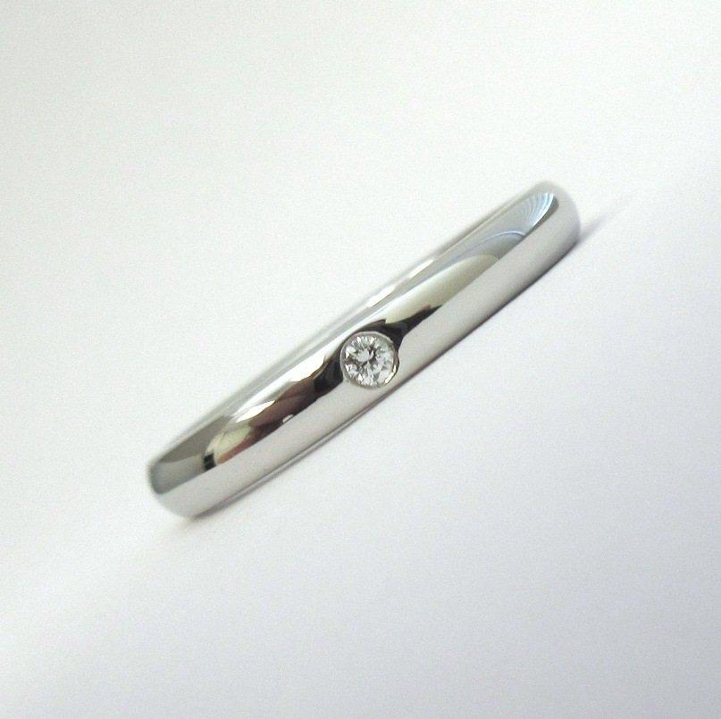 TIFFANY & Co. Platinum Elsa Peretti Diamond Band Ring 6 $1,300