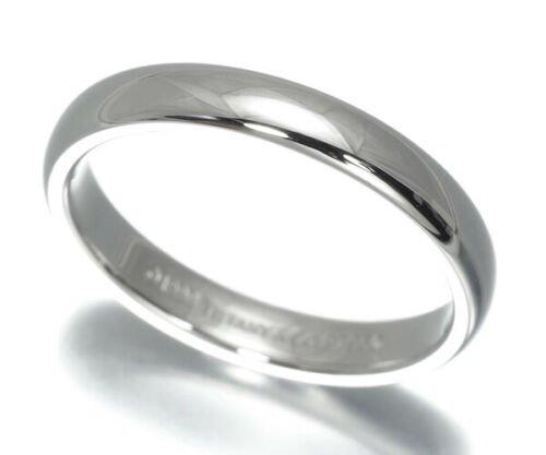 TIFFANY & Co. Classic Platinum 3mm Lucida Wedding Band Ring 5.5