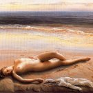 Hand-painted nude girl canvas art oil painting