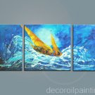 Modern abstract canvas boat in sea oil painting -Flo56