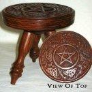 "Small Round Pentagram Altar Table 6"""