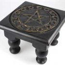 "Small Square Pentagram Altar Table 6"" x 6"""