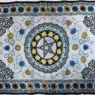 """flower Pentagram 72"""" x 108"""" Tapestry"""