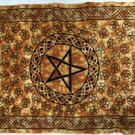 "Brown Pentagram Tapestry 72"" by 108"