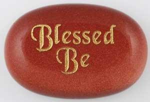 Blessed Be Golden Gratitude Stone