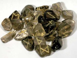 Smoky Quartz rune set