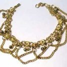"Fancy Goldtone Anklet 10"" long"