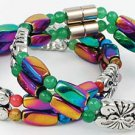 Double Banded Magnetic Rainbow Bracelet