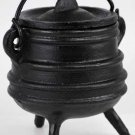 "Ribbed Cast Iron Cauldron 3"" x 4.5"""