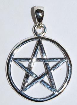 Interwoven Pentagram silver