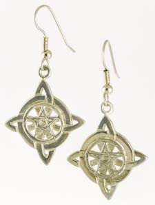 Witches Knot Pentagram earrings