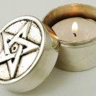 Pentagram Screw-Top Tealight holder