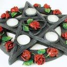 Rose Pentagram tealight holder