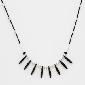 Black & Silver Tribal Style Necklace