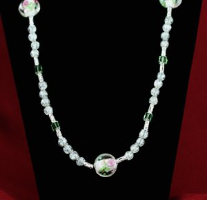 Crystal Roses Necklace