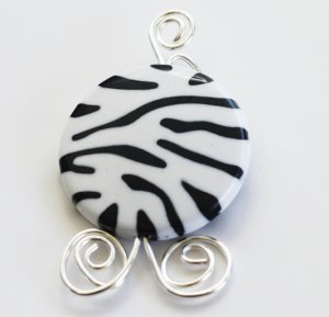 Zebra Print Pendant