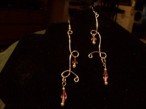 Sexy Pink & Silver Dangles