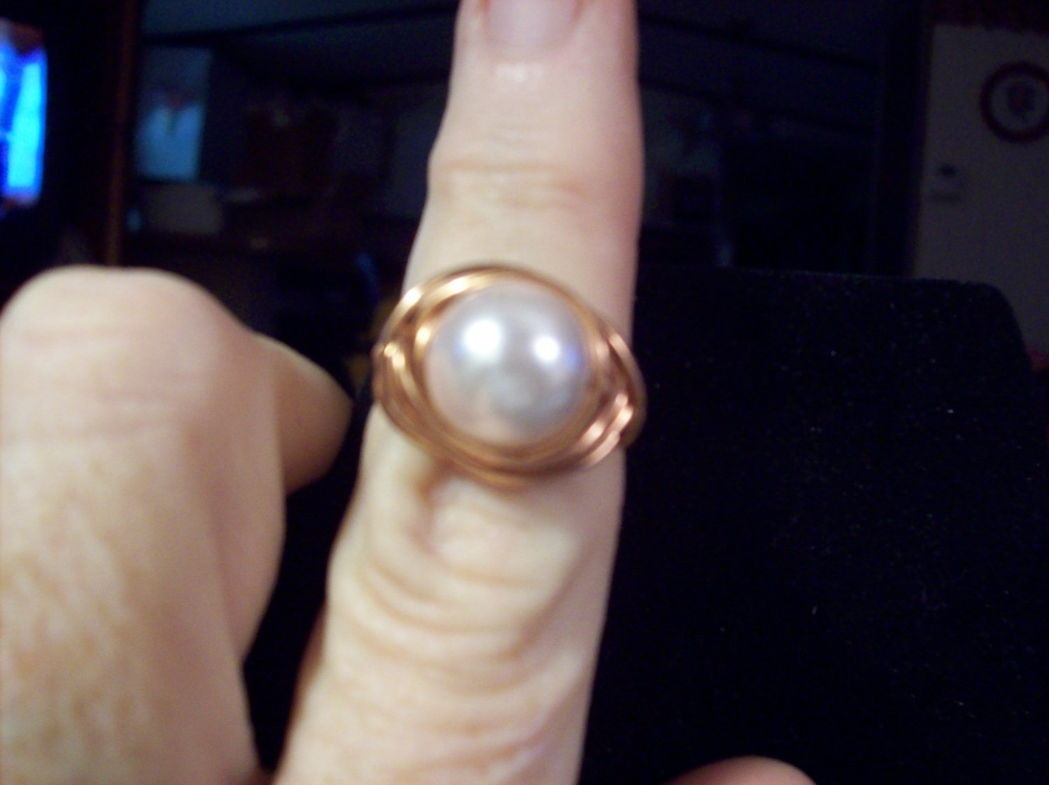 Creamy Pearl Wrapped Ring