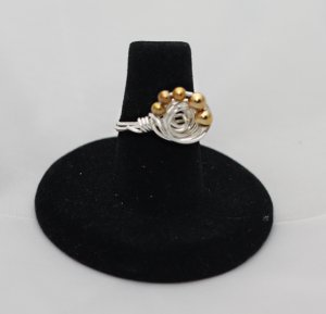 Silver & Gold Galaxy Ring