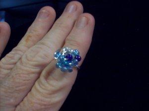 Two Tone Blue Galaxy Ring