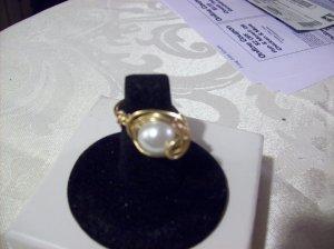 Swarovski Pearl Swirl Ring