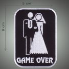 Marriage Game over embroidered patch