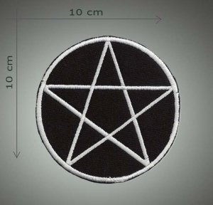 Pentagrama embroidered patch